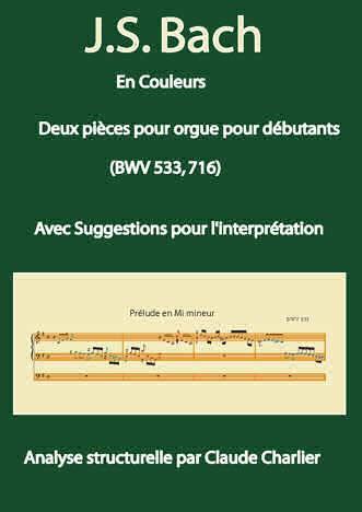 Bach en Couleurs (Deux pièces orgue) - Analyse Musicale - CHARLIER C. - front page