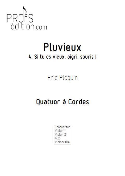 Pluvieux - Quatuor à Cordes - PLOQUIN E. - front page