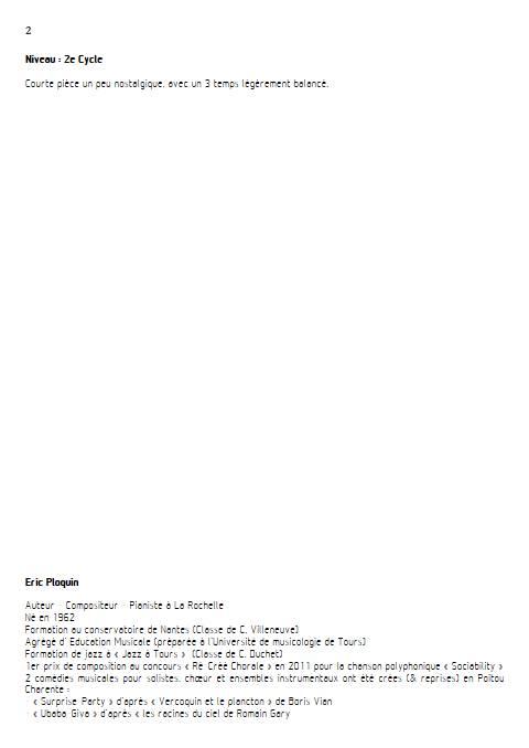 Pluvieux - Quatuor à Cordes - PLOQUIN E. - Educationnal sheet