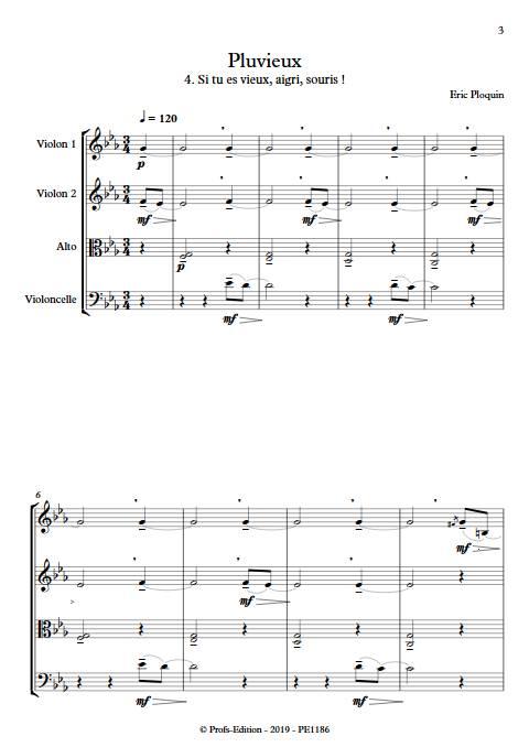 Pluvieux - Quatuor à Cordes - PLOQUIN E. - app.scorescoreTitle