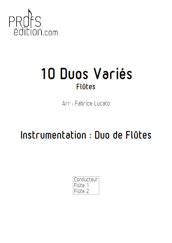 10 Duos Variés - Duo de Flûtes - DIVERS - front page