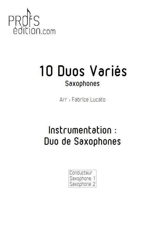 10 Duos Variés - Duo de Saxophones - DIVERS - front page
