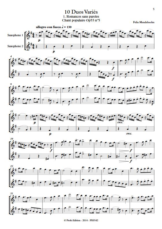 10 Duos Variés - Duo de Saxophones - DIVERS - app.scorescoreTitle