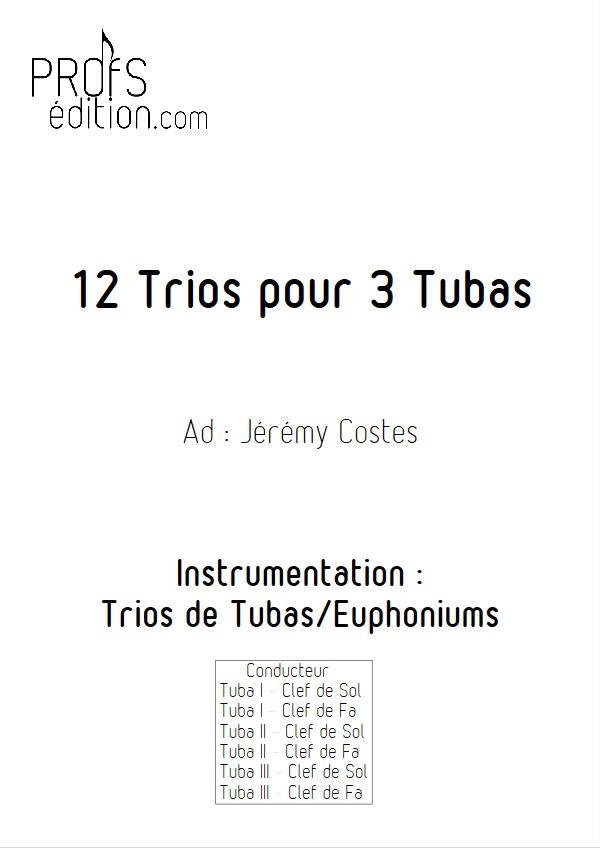 12 Trios pour Tubas - Trio Tubas - TRADITIONNEL - front page