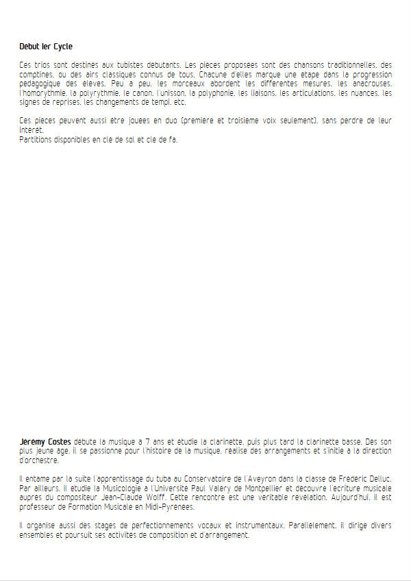 12 Trios pour Tubas - Trio Tubas - TRADITIONNEL - Educationnal sheet