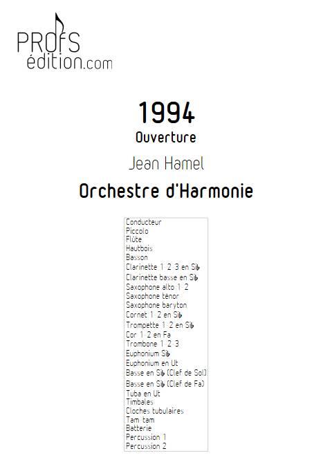 1994 - Orchestre d'Harmonie - HAMEL J. - front page