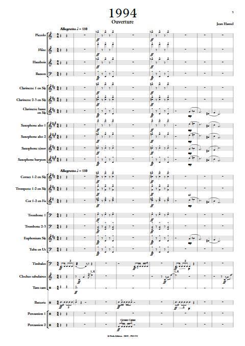 1994 - Orchestre d'Harmonie - HAMEL J. - app.scorescoreTitle