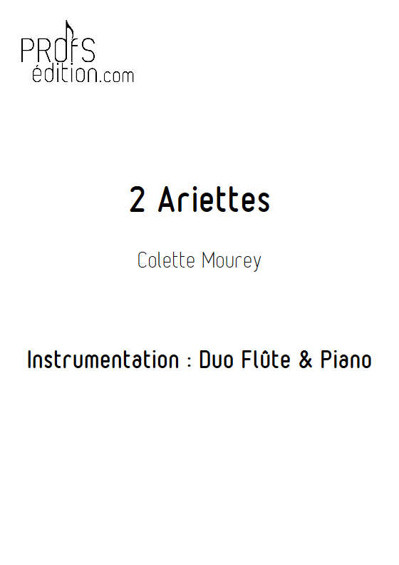 2 Ariettes - Duo Flûte & Piano - MOUREY C. - front page