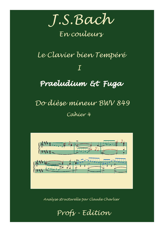 Clavier Bien Tempéré 1 BWV 849 - Analyse - CHARLIER C. - front page