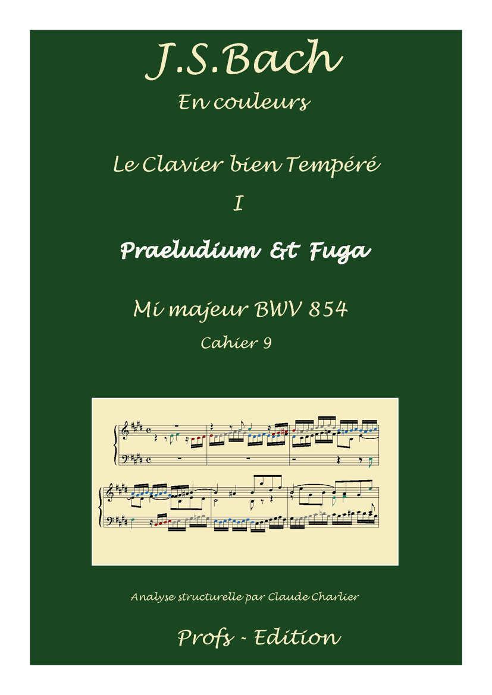Clavier Bien Tempéré 1 BWV 854 - Analyse - CHARLIER C. - front page