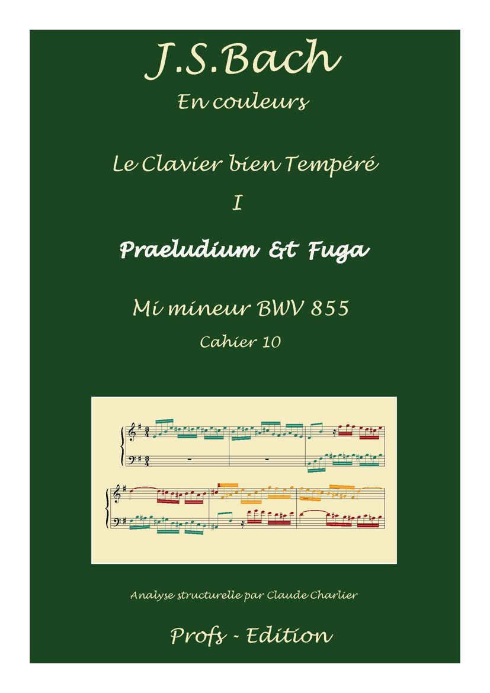 Clavier Bien Tempéré 1 BWV 855 - Analyse - CHARLIER C. - front page