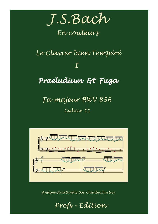 Clavier Bien Tempéré 1 BWV 856 - Analyse - CHARLIER C. - front page