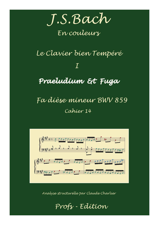 Clavier Bien Tempéré 1 BWV 859 - Analyse - CHARLIER C. - front page