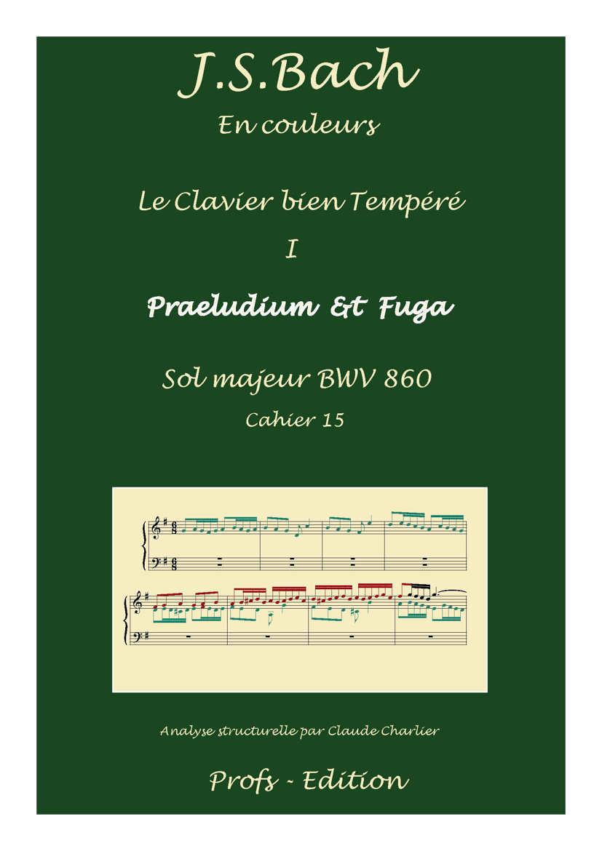 Clavier Bien Tempéré 1 BWV 860 - Analyse - CHARLIER C. - front page