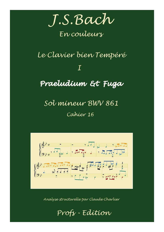 Clavier Bien Tempéré 1 BWV 861 - Analyse - CHARLIER C. - front page