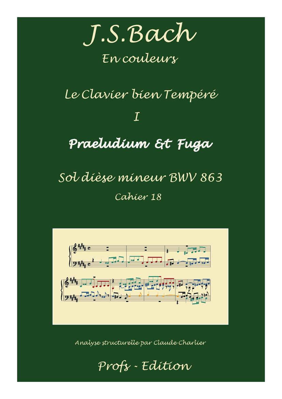 Clavier Bien Tempéré 1 BWV 863 - Analyse - CHARLIER C. - front page