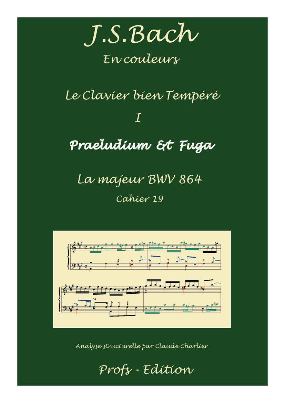 Clavier Bien Tempéré 1 BWV 864 - Analyse - CHARLIER C. - front page