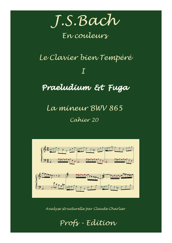 Clavier Bien Tempéré 1 BWV 865 - Analyse - CHARLIER C. - front page