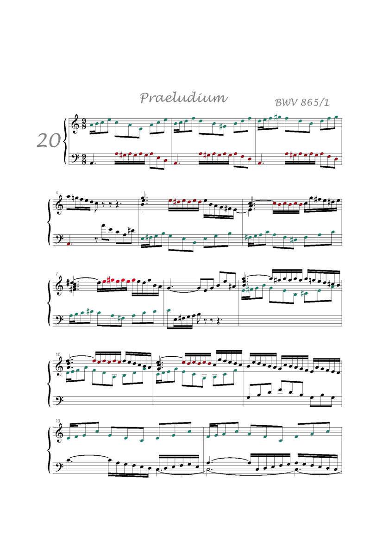Clavier Bien Tempéré 1 BWV 865 - Analyse - CHARLIER C. - app.scorescoreTitle