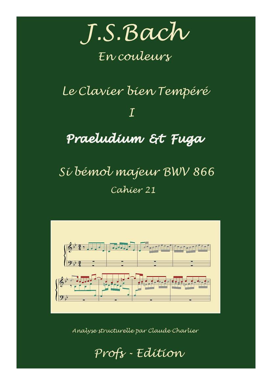 Clavier Bien Tempéré 1 BWV 866 - Analyse - CHARLIER C. - front page