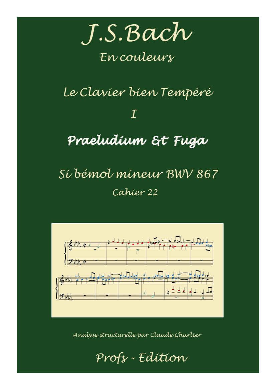 Clavier Bien Tempéré 1 BWV 867 - Analyse - CHARLIER C. - front page