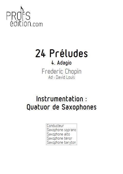 Largo - 24 Préludes - Quatuor de Saxophones - CHOPIN F. - front page