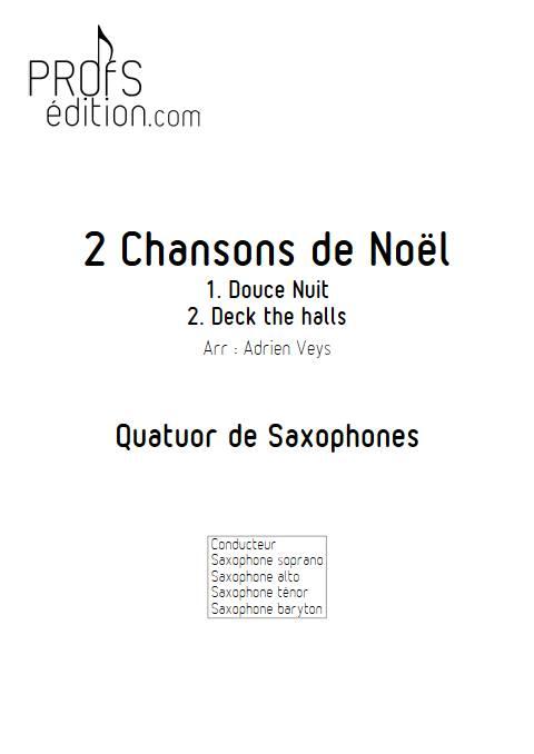 2 Chansons de Noël - Quatuor de Saxophones - TRADITIONNEL - front page