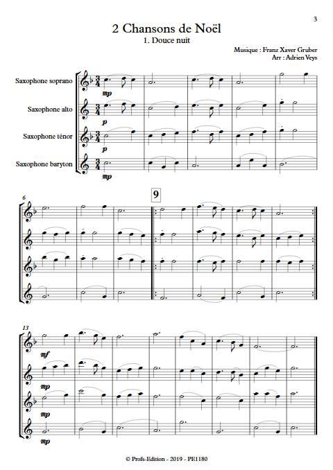 2 Chansons de Noël - Quatuor de Saxophones - TRADITIONNEL - app.scorescoreTitle