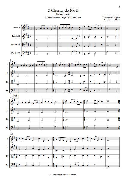 2 Chants de Noël - Ensemble Variable - TRADITIONNEL ANGLAIS - Educationnal sheet