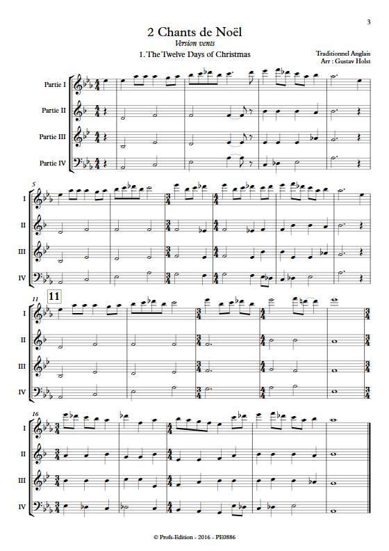2 Chants de Noël - Ensemble Variable - TRADITIONNEL ANGLAIS - app.scorescoreTitle
