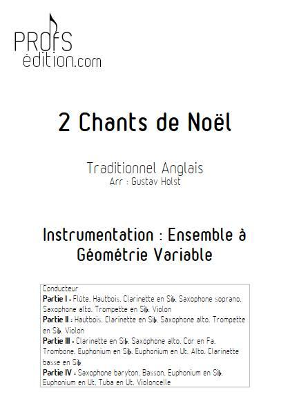 2 Chants de Noël - Ensemble Variable - TRADITIONNEL ANGLAIS - front page