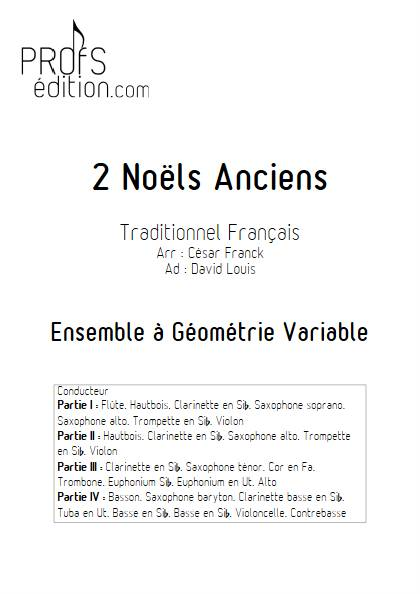 2 Noëls Anciens - Ensemble Variable - TRADITIONNEL FRANCAIS - front page
