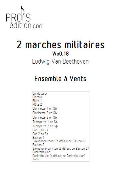2 marches militaires - Ensemble à Vents - BEETHOVEN L. V. - front page