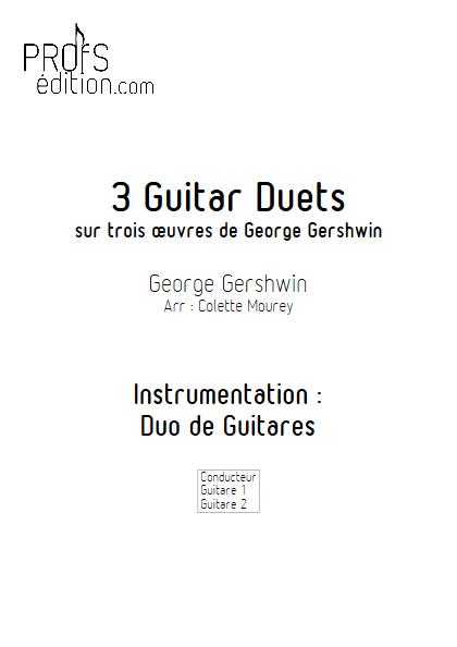 3 Guitar Duets - Duos de Guitares - GERSHWIN G. - front page