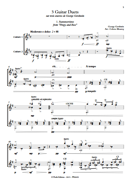 3 Guitar Duets - Duos de Guitares - GERSHWIN G. - app.scorescoreTitle