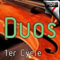 38 Chants et Comptines - Duos de Violons - TRADITIONNEL