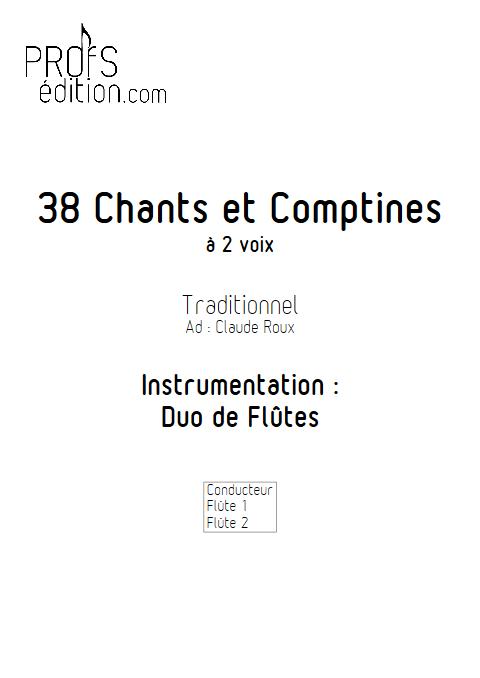 38 Chants et Comptines - Duos de Flûtes - TRADITIONNEL - front page