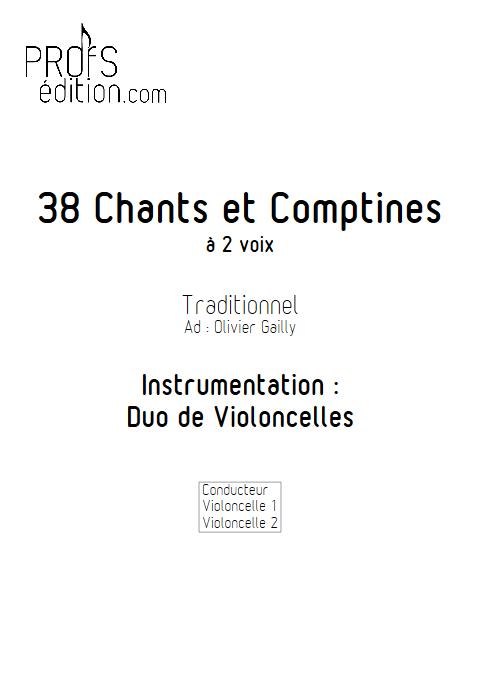 38 Chants et Comptines - Duos de Violoncelles - TRADITIONNEL - front page