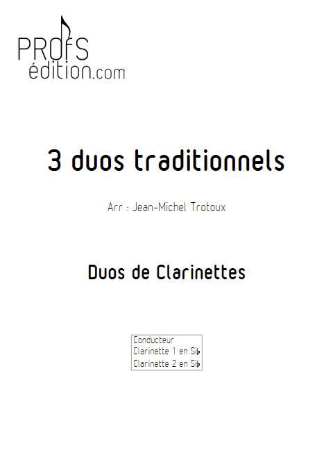 3 Duos - Duos de Clarinettes - TRADITIONNEL - front page