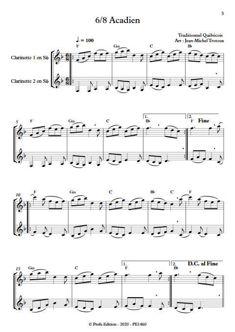 3 Gigues Québécoises - Duo de Clarinettes - TRADITIONNEL QUÉBÉCOIS - app.scorescoreTitle