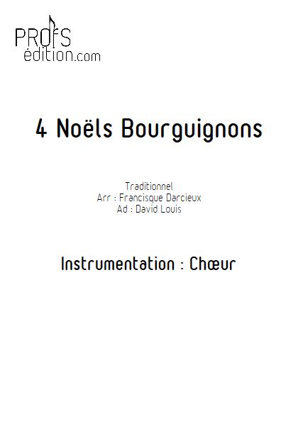 4 Noëls Bourguignons - Chœur seul - TRADITIONNEL - front page