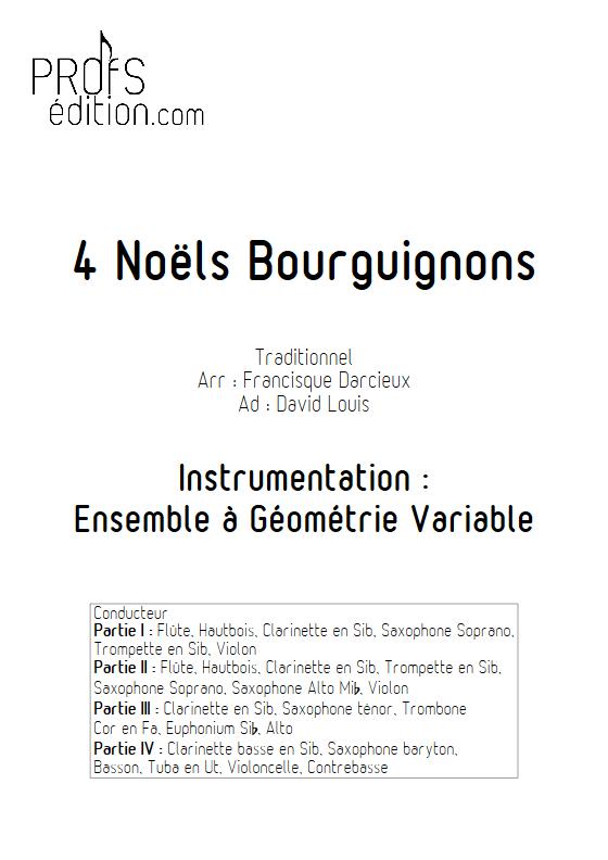 4 Noëls Bourguignons - Ensemble à Géométrie Variable & Chœur - TRADITIONNEL - front page