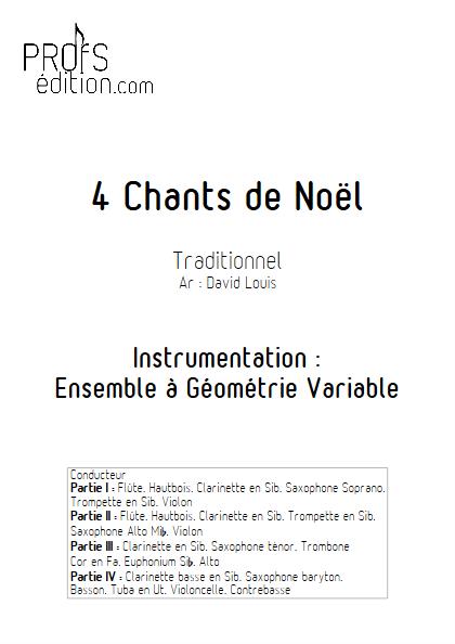 4 Chants de Noël - Ensemble à Géométrie Variable - TRADITIONNEL - front page