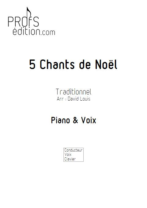 5 Chants de Noël - Piano Voix - TRADITIONNEL - front page
