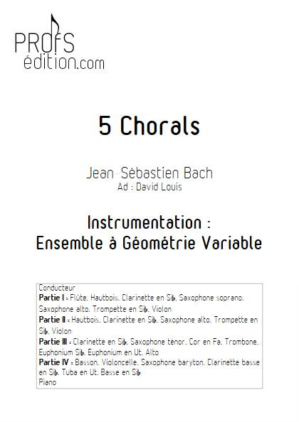 5 Chorals - Ensemble Variable - BACH J.S. - front page
