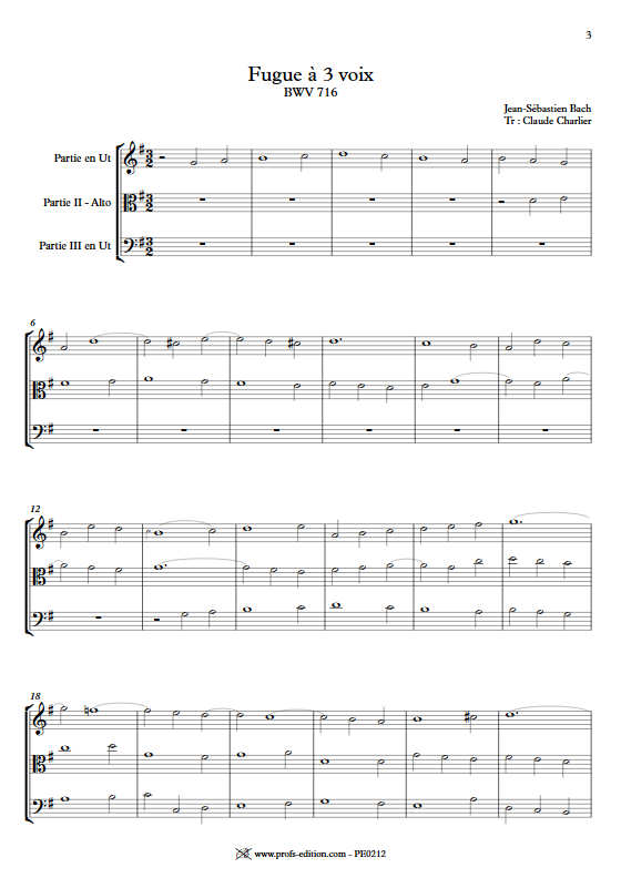 Choral BWV 716 - Trio - BACH J. S. - app.scorescoreTitle