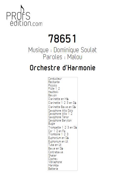 78651 - Orchestre d'Harmonie - SOULAT D. - front page