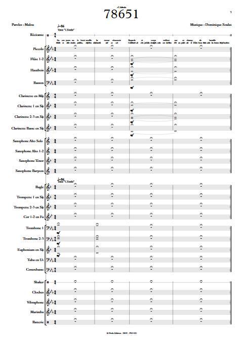 78651 - Orchestre d'Harmonie - SOULAT D. - app.scorescoreTitle