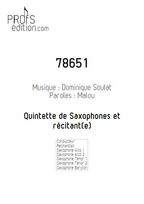 78651 - Quintette de Saxophones - SOULAT D. - front page