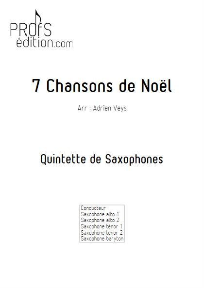 7 Chansons de Noël - Quintette de Saxophones - TRADITIONNEL - front page
